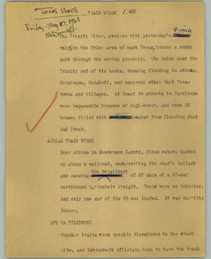 Primary view of object titled '[News Script: Train wreck]'.