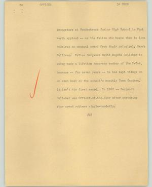 Primary view of object titled '[News Script: Officer]'.