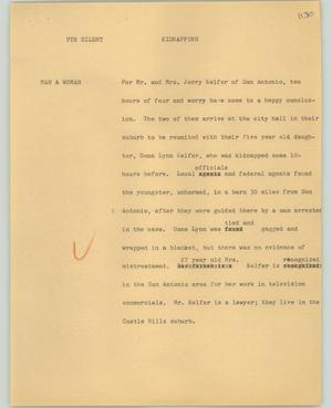 Primary view of object titled '[News Script: Kidnapping]'.