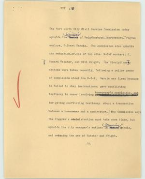 Primary view of object titled '[News Script: Nip]'.