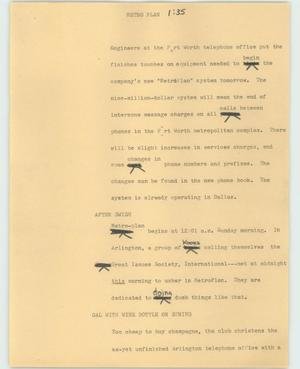 Primary view of object titled '[News Script: Metro plan]'.
