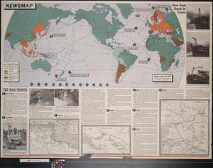 Primary view of object titled 'Newsmap. Monday, January 18, 1943 : week of January 8 to January 15'.