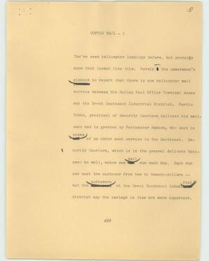 Primary view of object titled '[News Script: Copter mail]'.