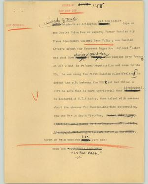 Primary view of object titled '[News Script: Russian]'.