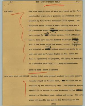 Primary view of object titled '[News Script: CAA]'.