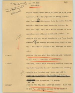 Primary view of object titled '[News Script: Big John]'.