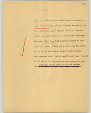 Primary view of object titled '[News Script: Crime #2]'.