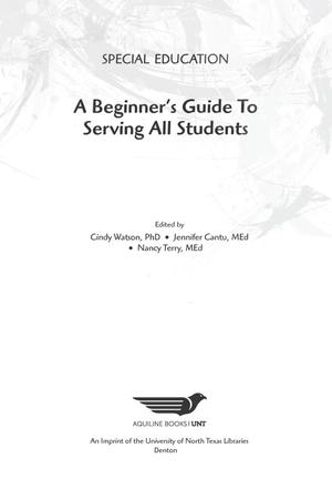 Primary view of object titled 'Special Education: A Beginner's Guide to Serving All Students'.