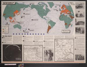 Primary view of object titled 'Newsmap. Monday, January 11, 1943 : week of January 1 to January 8'.
