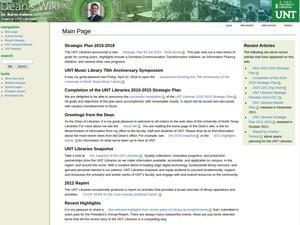 UNT Libraries Dean's Wiki