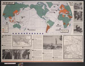Primary view of object titled 'Newsmap. Monday, January 4, 1943 : week of December 25 to January 1'.