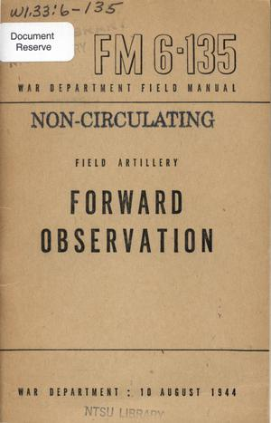 Primary view of object titled 'Forward observation.'.