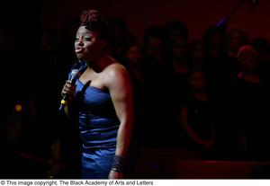Primary view of object titled '[Ledisi singing]'.