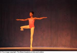 Primary view of object titled '[Solo ballerina on stage]'.