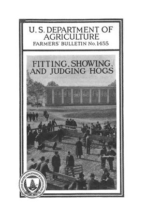 Fitting, showing, and judging hogs.