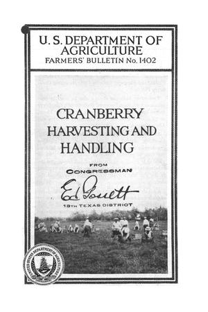 Cranberry harvesting and handling.