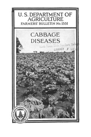 Primary view of object titled 'Cabbage diseases.'.