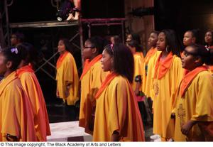 Primary view of object titled '[Choir in Aretha: The Musical]'.