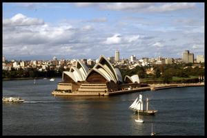 Primary view of object titled '[Sydney Harbour and Opera House]'.