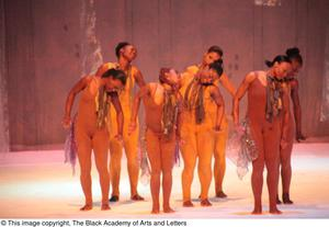Primary view of object titled '[Ensemble with scarves dancing]'.