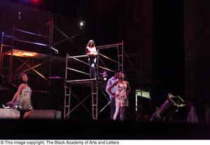 Primary view of object titled '[Actors performing in Aretha: The Musical]'.