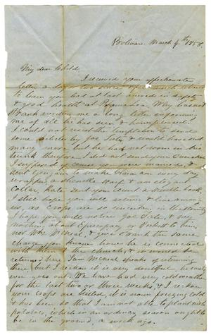 Primary view of [Letter from Maud C. Fentress to David W. Fentress, March 4, 1858]