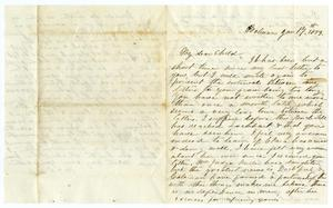 Primary view of object titled '[Letter from Maud C. Fentress to David W. Fentress, January 17, 1859]'.