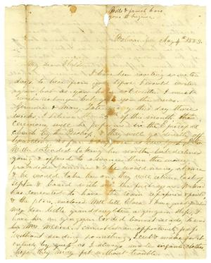 Primary view of object titled '[Letter from Maud C. Fentress to David W. Fentress, August 4, 1859]'.