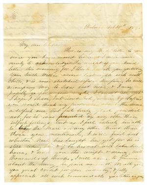 Primary view of [Letter from Maud C. Fentress to David Fentress, October 26, 1859]
