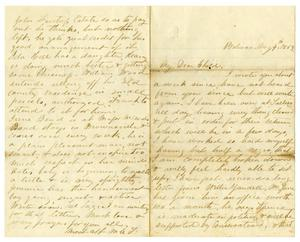 Primary view of [Letter from Maud C. Fentress to David Fentress, August 4,1869]