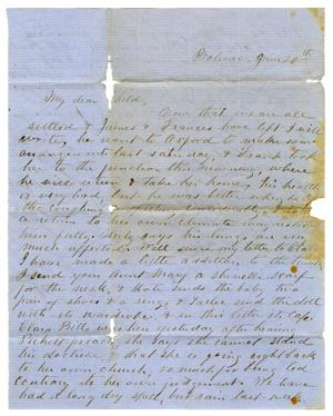 Primary view of object titled '[Letter from Maud Fentress to David Fentress, June 20th]'.