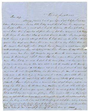 Primary view of [Letter from David Fentress to Clara Fentress, August 30, 1862]