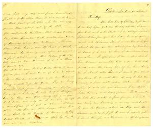 Primary view of object titled '[Letter from David Fentress to his wife Clara, December 10, 1862]'.