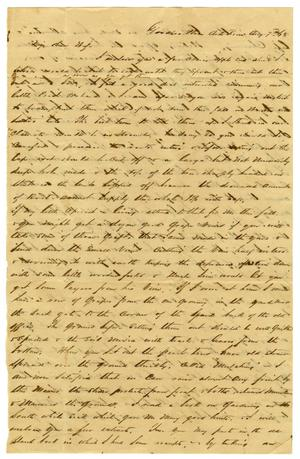 Primary view of object titled '[Letter from David Fentress to his wife Clara, August 7, 1863]'.