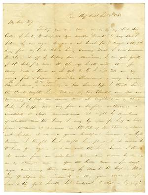 Primary view of [Letter from David Fentress to his wife Clara, September 3, 1863]