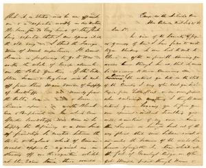 Primary view of object titled '[Letter to David Fentress, July 27, 1863]'.