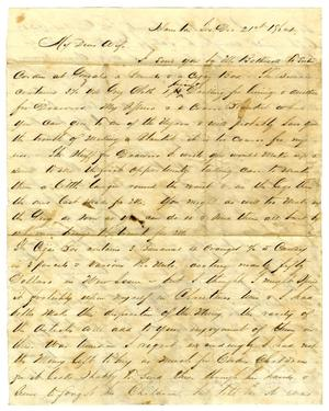 Primary view of object titled '[Letter from David Fentress to his wife Clara, December 21, 1864]'.