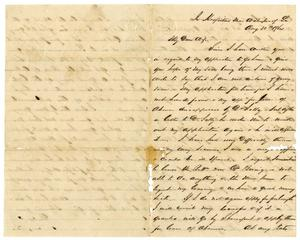 Primary view of object titled '[Letter from David Fentress to his wife Clara, August 30, 1864]'.