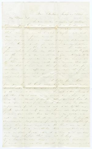 Primary view of object titled '[Letter from David Fentress to Clara Fentress, February 26, 1865]'.