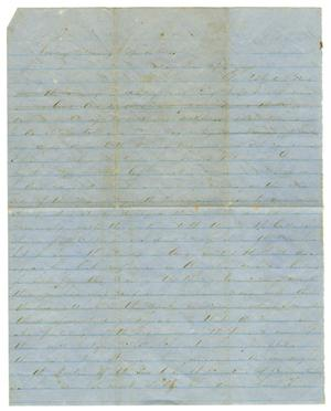 Primary view of object titled '[Letter from David Fentress to his wife Clara, April 16, 1865]'.