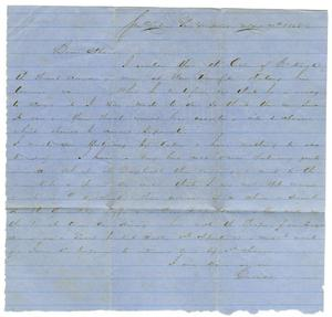 Primary view of object titled '[Letter from David Fentress to his wife Clara, May 7, 1865]'.