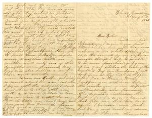 Primary view of [Letter from Kate Fentress to David Fentress, February 11, 1866]