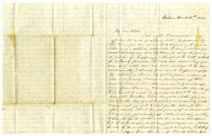 Primary view of [Letter from Maud C. Fentress to her son David Fentress - March 18, 1858]