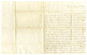 Primary view of [Letter from Maud C. Fentress to her son David - May 31, 1858]