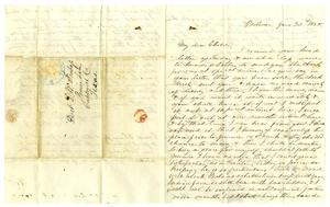 Primary view of object titled '[Letter from Maud C. Fentress to David W. Fentress, June 30, 1858]'.