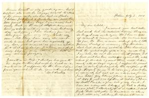 Primary view of object titled '[Letter from Maud C. Fentress to her son David Fentress - July 2, 1858]'.
