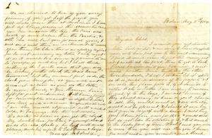 Primary view of [Letter from Maud C. Fentress to David Fentress, August 8, 1858]