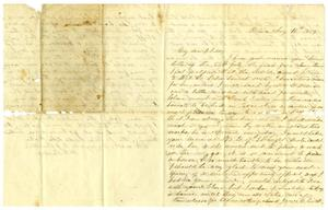 Primary view of [Letter from Maud C. Fentress to her son David W. Fentress - August 10, 1859]