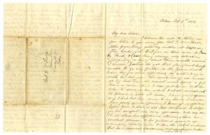 Primary view of object titled '[Letter from Maud C. Fentress to David W. Fentress, October 8, 1859 ]'.