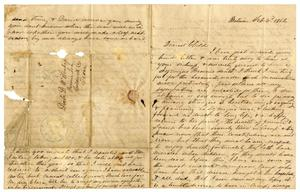 Primary view of object titled '[Letter from Maud C. Fentress to David Fentress, February 3, 1862]'.